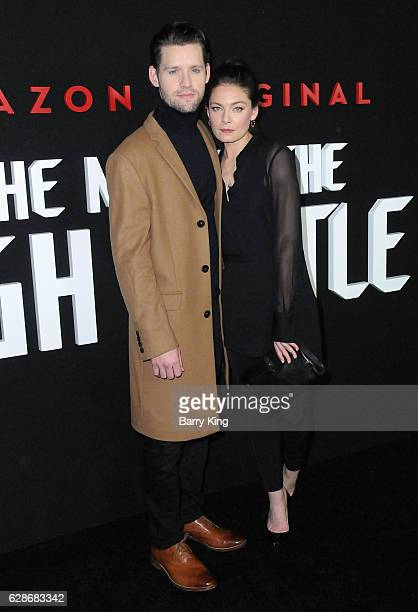 Actor Luke Kleintank and actress Alexa Davatos attends the premiere of Amazon's 'Man In The High Castle' at Pacific Design Center on December 8 2016...