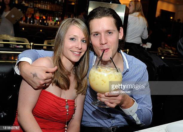 Actor Luke Kleintank and his sister Ruth Kleintank attend the Sugar Factory American Brasserie at Paris Las Vegas on May 20 2011 in Las Vegas Nevada