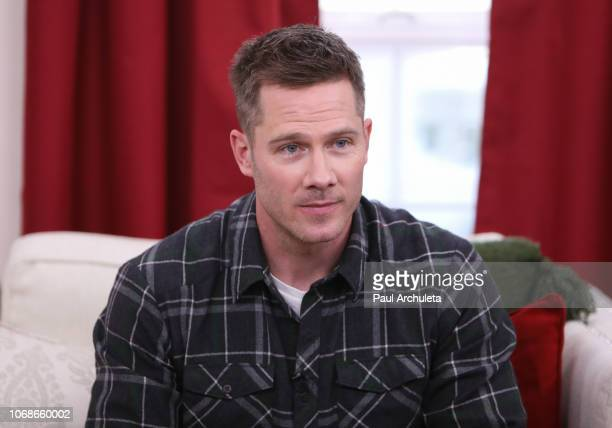 Actor Luke McFarlan visits Hallmark's 'Home Family' at Universal Studios Hollywood on November 16 2018 in Universal City California