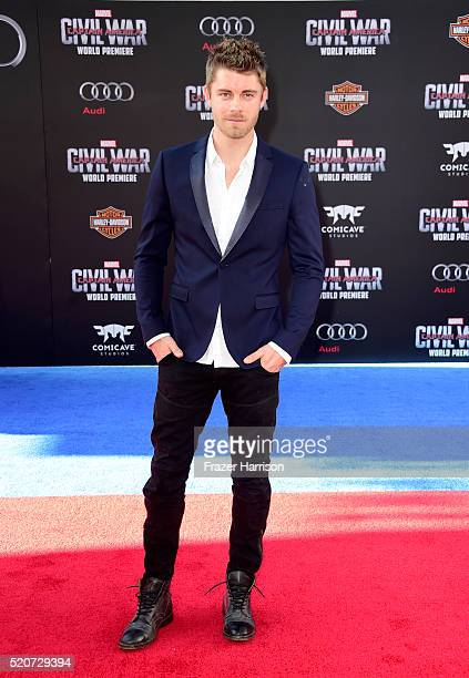 Actor Luke Mitchell attends the premiere of Marvel's 'Captain America Civil War' at Dolby Theatre on April 12 2016 in Los Angeles California