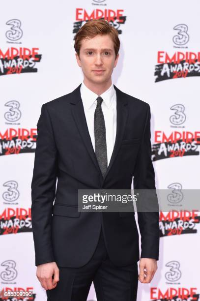 Actor Luke Newberry attends the THREE Empire awards at The Roundhouse on March 19 2017 in London England