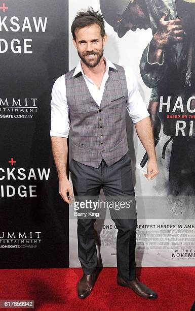 Actor Luke Pegler attends screening of Summit Entertainment's 'Hacksaw Ridge' at Samuel Goldwyn Theater on October 24 2016 in Beverly Hills California
