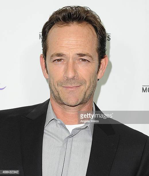 Actor Luke Perry arrives at Hallmark Channel's annual holiday event premiere screening of Northpole at La Piazza Restaurant on November 4 2014 in Los...
