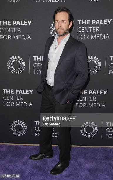 Actor Luke Perry arrives at the 2017 PaleyLive LA Spring Season 'Riverdale' Screening And Conversation at The Paley Center for Media on April 27 2017...