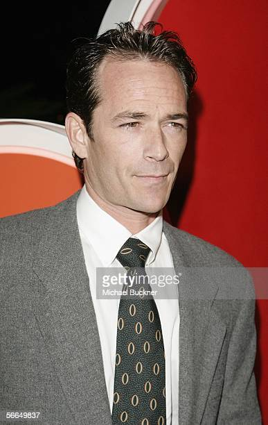 Actor Luke Perry arrives at the NBC TCA Party at the Ritz Carlton on January 22 2006 in Los Angeles California