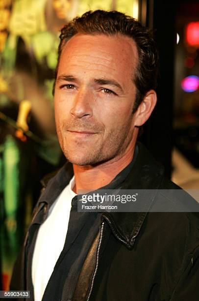 Actor Luke Perry arrives at the premiere of Domino at the Graumans Chinese Theatre on October 11 2005 in Hollywood California