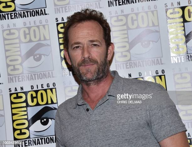 Actor Luke Perry arrives for the press line of Riverdale at Comic Con in San Diego July 21 2018