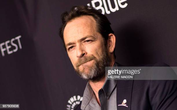 Actor Luke Perry attends The 2018 PaleyFest screening of Riverdale at the Dolby Theater on March 25 in Hollywood California / AFP PHOTO / VALERIE...