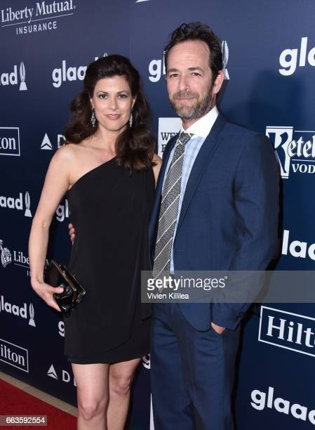 Actor Luke Perry attends the 28th Annual GLAAD Media Awards in LA at The Beverly Hilton Hotel on April 1 2017 in Beverly Hills California