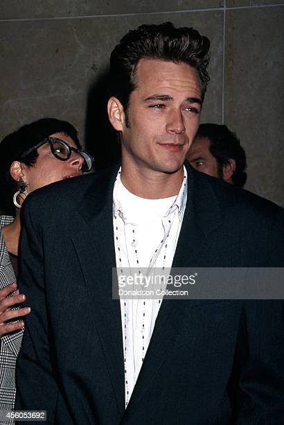 Actor Luke Perry attends the 51st Annual Golden Apple Awards on December 8 1991 in Los Angeles California