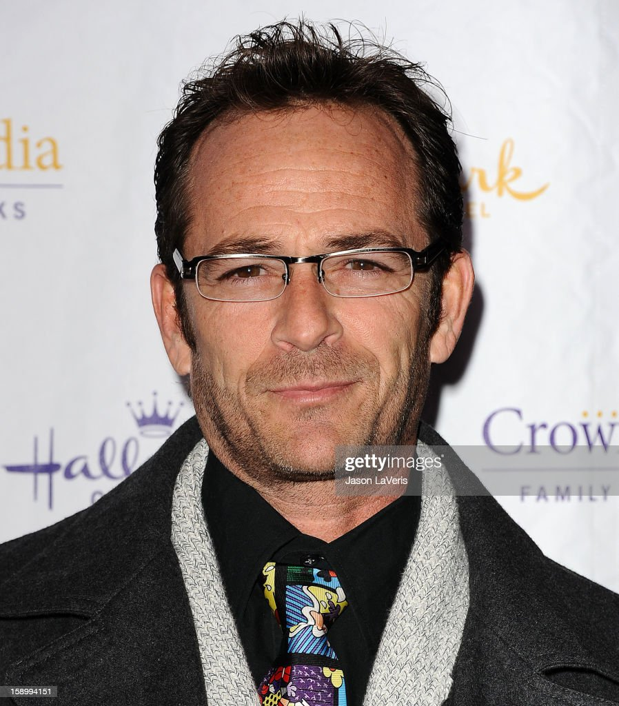 Actor Luke Perry attends the Hallmark Channel 2013 winter press gala at Huntington Library on January 4, 2013 in Pasadena, California.