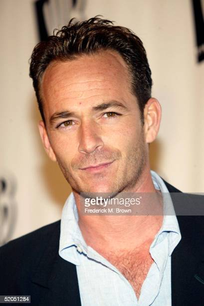Actor Luke Perry attends The WB 2005 Television Critics Winter Press Tour Party at The WB Studios on January 22 2005 in Burbank California