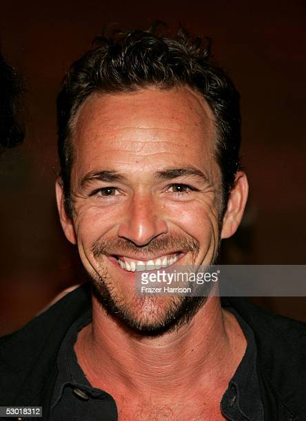 Actor Luke Perry poses at The David Beckham Academy launch party at Creative Artists Agency on June 3 2005 in Beverly Hills California The reception...