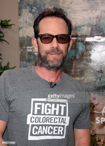 Actor Luke Perry visits Hallmark's Home Family at Universal Studios Hollywood on March 30 2018 in Universal City California