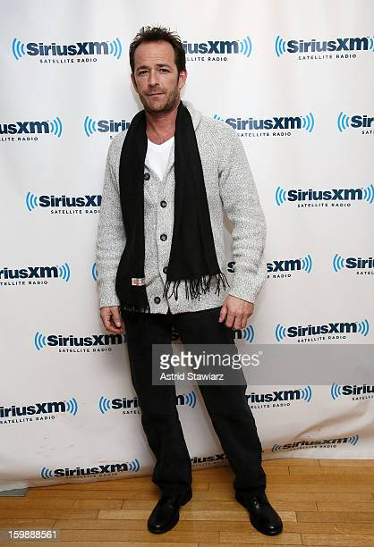 Actor Luke Perry visits the SiriusXM studios on January 22 2013 in New York City