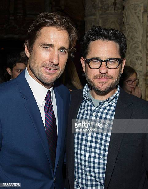 Actor Luke Wilson and executive producer JJ Abrams attend the after party for Showtime's Roadies at The Theatre at Ace Hotel on June 6 2016 in Los...