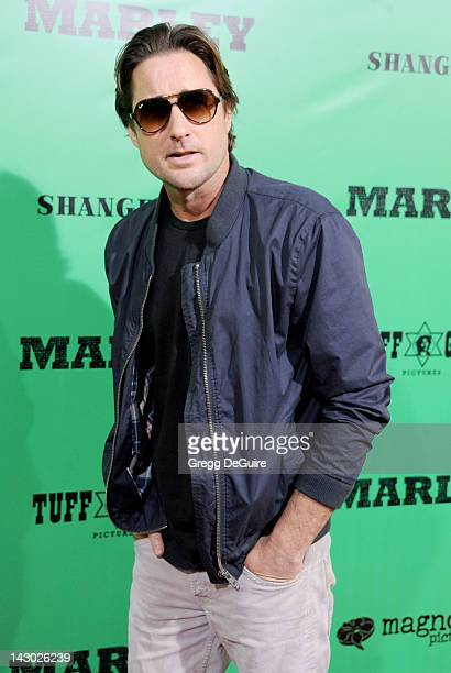 Actor Luke Wilson arrives at the Los Angeles premiere of 'Marley' at ArcLight Cinemas Cinerama Dome on April 17 2012 in Hollywood California