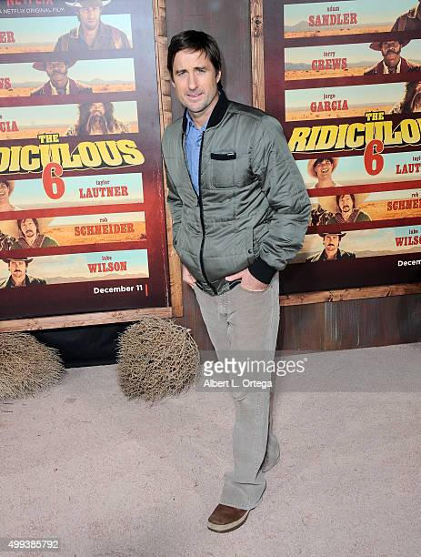 Actor Luke Wilson arrives for the premiere of Netflix's 'The Ridiculous 6' held at AMC Universal City Walk on November 30 2015 in Universal City...