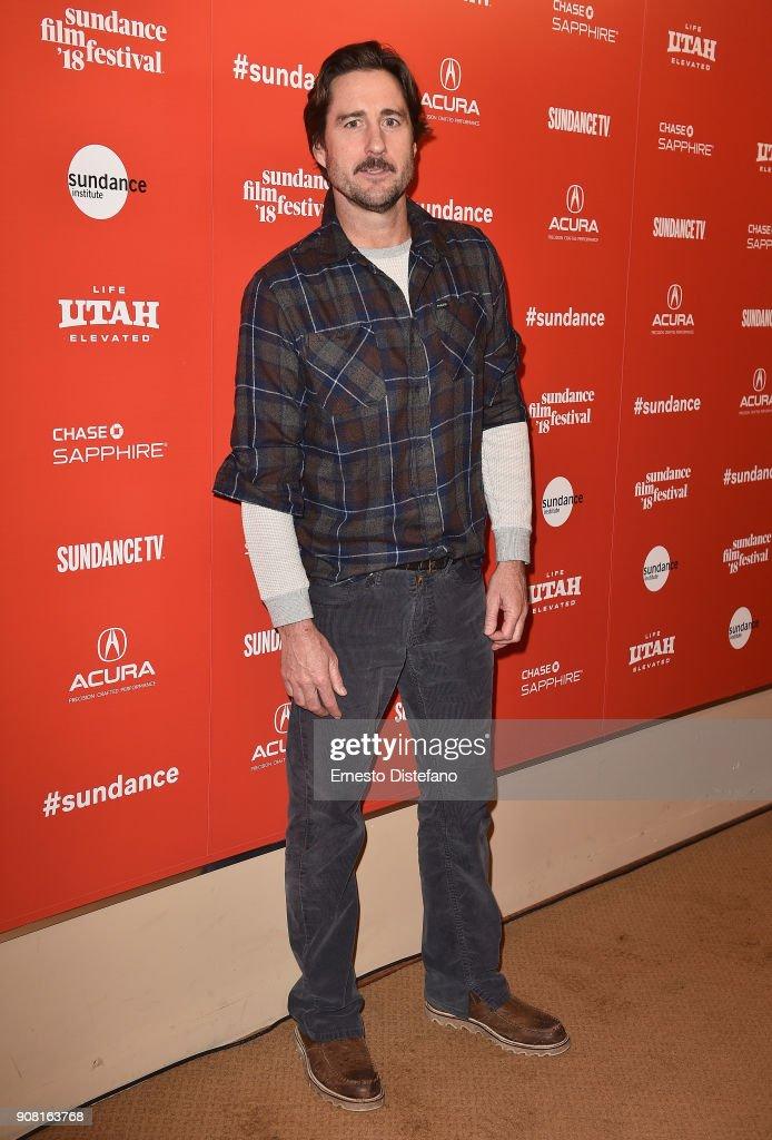 Actor Luke Wilson attends the 'Arizona' Premiere during 2018 Sundance Film Festival at Egyptian Theatre on January 20, 2018 in Park City, Utah.