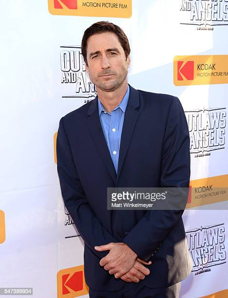 Actor Luke Wilson attends the premiere of Momentum Pictures' 'Outlaws And Angels' at Ahrya Fine Arts Movie Theater on July 12 2016 in Beverly Hills...