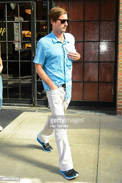 Actor Luke Wilson leaves his Noho hotel on September 21 2016 in New York City