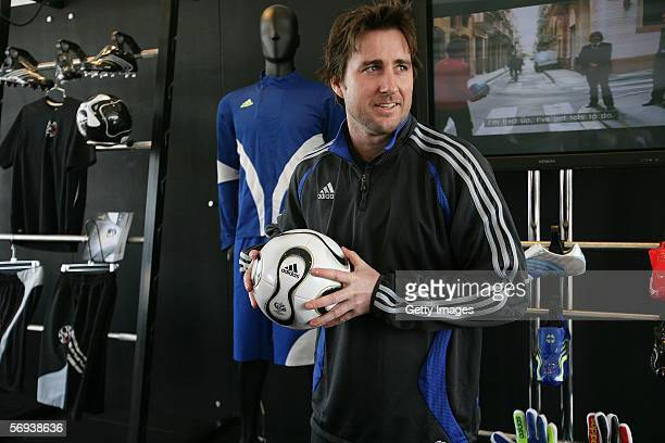 Actor Luke Wilson liked the feel of his new Adidas soccer shoes at the Adidas Challenges America's Youth Soccer Stars tournament held at the beach in...