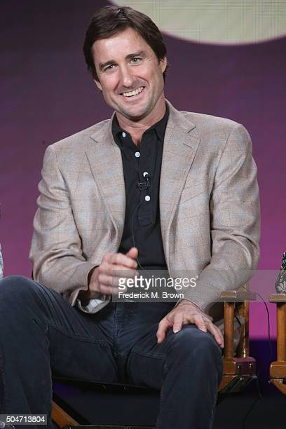 Actor Luke Wilson speaks onstage during the 'Roadies' panel discussion at the CBS/ShowtimeTelevision Group portion of the 2015 Winter TCA Tour at the...