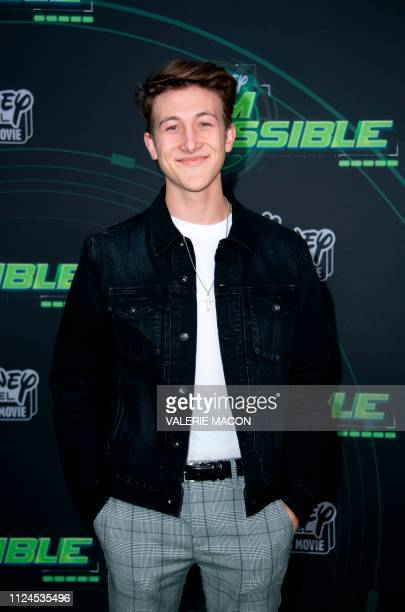 Actor Luker Mullen attends the world premiere of Disney channel original movie 'Kim Possible' in North Hollywood California on February 12 2019