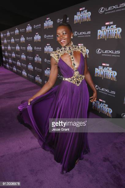 Actor Lupita Nyong'o at the Los Angeles World Premiere of Marvel Studios' BLACK PANTHER at Dolby Theatre on January 29 2018 in Hollywood California