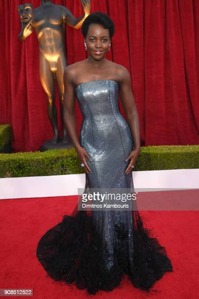 Actor Lupita Nyong'o attends the 24th Annual Screen Actors Guild Awards at The Shrine Auditorium on January 21 2018 in Los Angeles California...