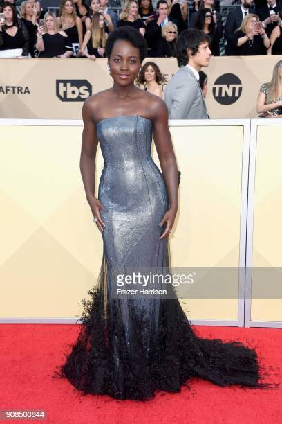 Actor Lupita Nyong'o attends the 24th Annual Screen Actors Guild Awards at The Shrine Auditorium on January 21 2018 in Los Angeles California