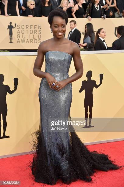 Actor Lupita Nyong'o attends the 24th Annual Screen ActorsGuild Awards at The Shrine Auditorium on January 21 2018 in Los Angeles California
