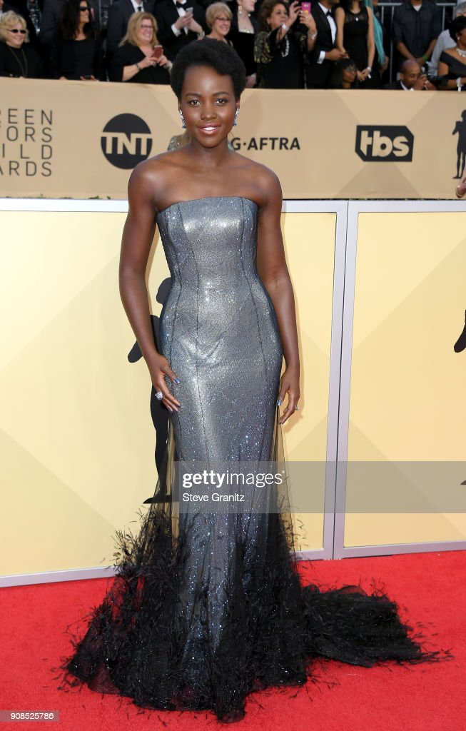 Actor Lupita Nyong'o attends the 24th Annual Screen ActorsGuild Awards at The Shrine Auditorium on January 21, 2018 in Los Angeles, California.