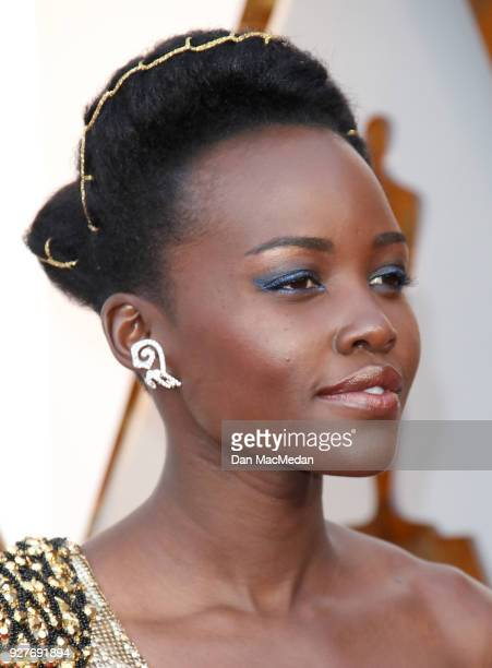 Actor Lupita Nyong'o attends the 90th Annual Academy Awards at Hollywood Highland Center on March 4 2018 in Hollywood California