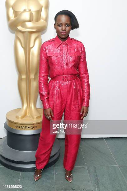 Actor Lupita Nyong'o attends The Academy of Motion Picture Arts and Sciences official screening of Us at the MoMA Celeste Bartos Theater on March 18,...