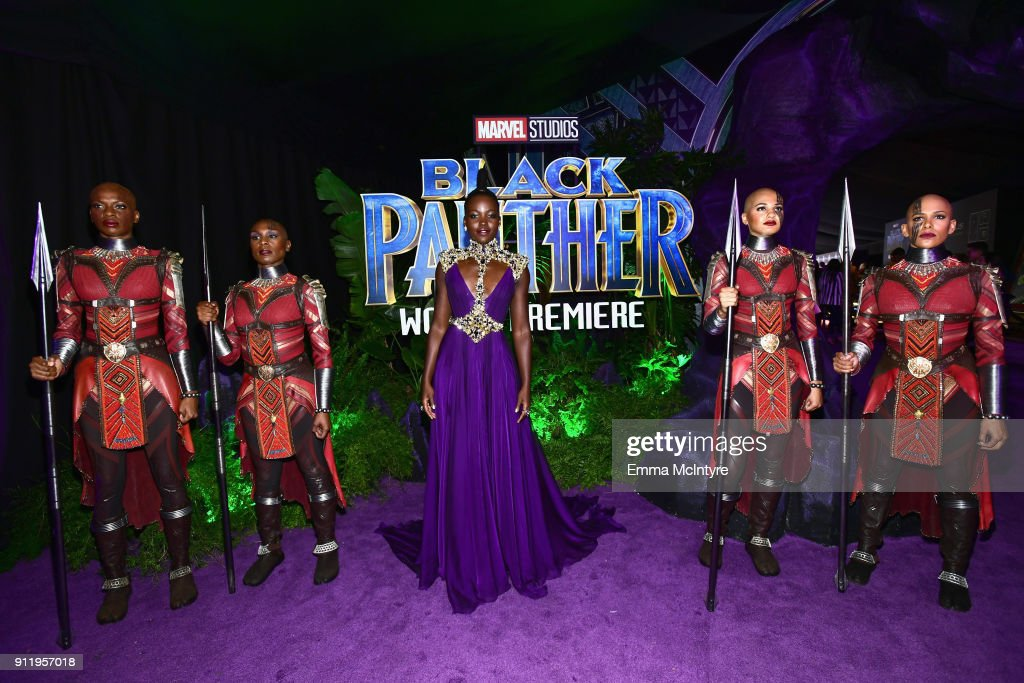 Premiere Of Disney And Marvel's 'Black Panther' - Red Carpet : News Photo