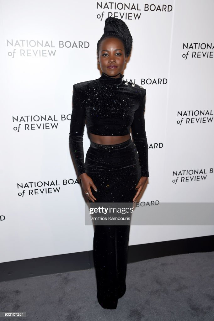 Actor Lupita Nyong'o attends the The National Board Of Review Annual Awards Gala at Cipriani 42nd Street on January 9, 2018 in New York City.