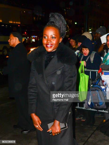 Actor Lupita Nyong'o is seen in midtown on January 9 2018 in New York City