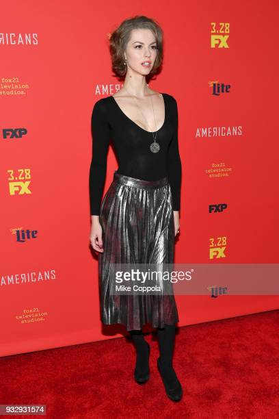 Actor Lyanka Gryu attends 'The Americans' Season 6 Premiere at Alice Tully Hall Lincoln Center on March 16 2018 in New York City