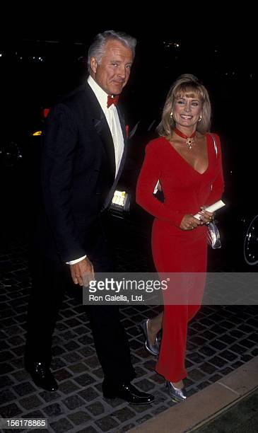 Actor Lyle Waggoner and wife Sharon Kennedy attend 10th Annual Odyssey Ball Benefit on April 9 1994 at the Beverly Hilton Hotel in Beverly Hills...