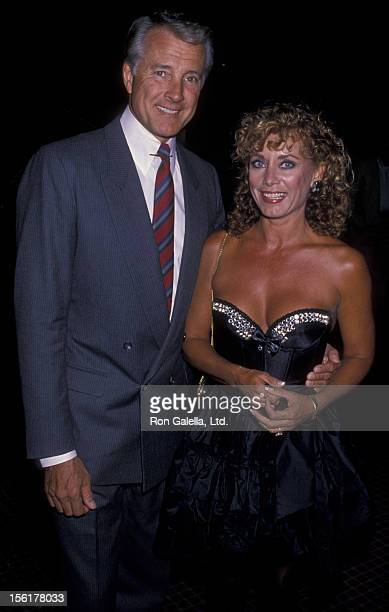 Actor Lyle Waggoner and wife Sharon Kennedy attend Third Annual Health Games Gala on September 30 1989 at the Marriott Marquis Hotel in New York City