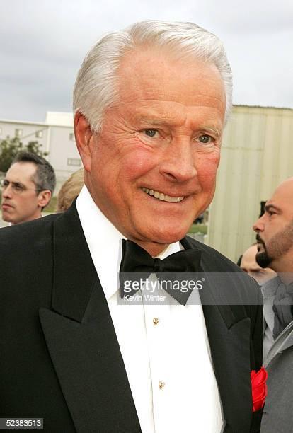 Actor Lyle Waggoner arrives at the 2005 TV Land Awards at Barker Hangar on March 13 2005 in Santa Monica California