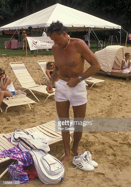 Actor Lyle Waggoner attends Kauai Lani Celebrity Sports Invitational on October 6 1988 in Kauai Lani Hawaii