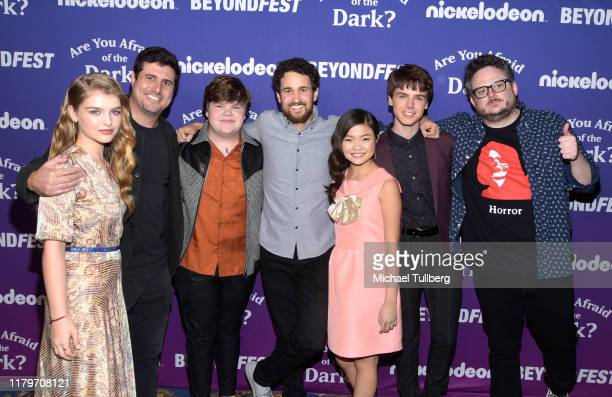 Actor Lyliana Wray, director Dean Israelite, actor Jeremy Ray Taylor, executive producer Spencer Berman, actors Miya Cech and Sam Ashe Arnold and...