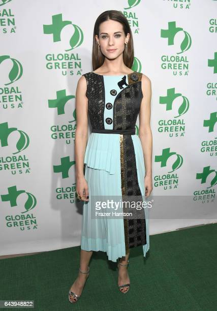 Actor Lyndsy Fonseca attends the 14th Annual Global Green Pre Oscar Party at TAO Hollywood on February 22 2017 in Los Angeles California