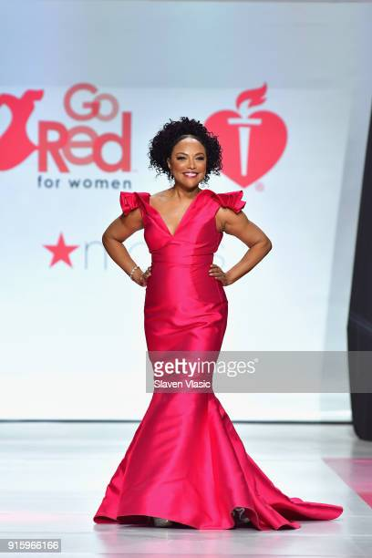 Actor Lynn Whitfield onstage at the American Heart Association's Go Red For Women Red Dress Collection 2018 presented by Macy's at Hammerstein...