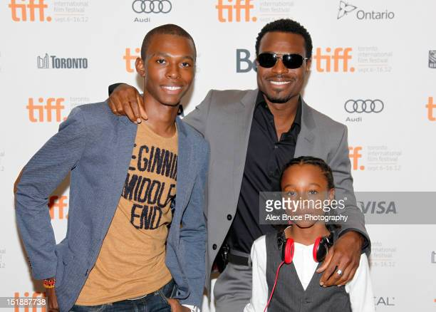 Actor Lyriq Bent and family attend the Home Again premiere during the 2012 Toronto International Film Festival at the Cineplex Odeon Yonge Dundas...