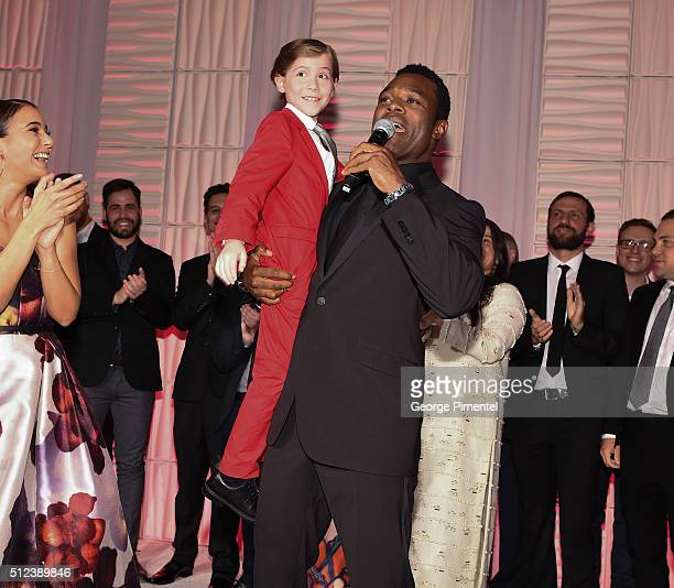 Actor Lyriq Bent and Jacob Tremblay attend the 3rd Annual An Evening With Canada's Stars at Four Seasons Hotel Los Angeles at Beverly Hills on...