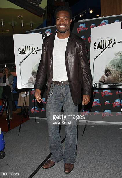 Actor Lyriq Bent donates memorabilia from Saw IV at Planet Hollywood Times Square on October 25 2007 in New York City