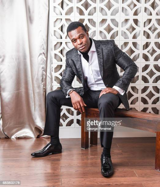 Actor Lyriq Bent poses at the 2016 Canadian Screen Awards Portrait Studio at the Sony Centre for the Performing Arts on March 13 2016 in Toronto...